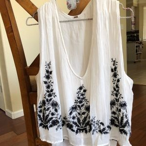 Free people flowly embroidered top